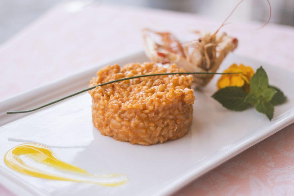 risotto crema scampi ristorante 4 fiumi roma