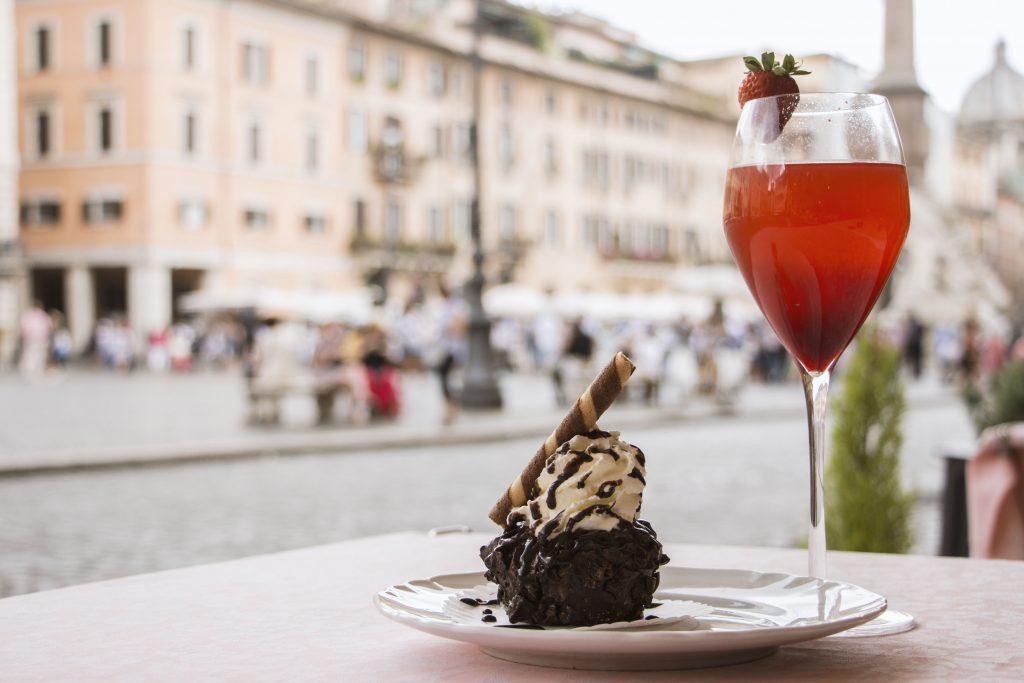 tartufo gelato ristorante 4 fiumi roma